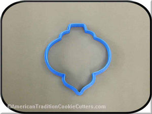 "4"" Christmas Ornament 3D Printed Plastic Cookie Cutter - American Tradition Cookie Cutters"