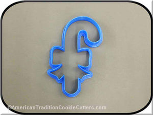 "4.5"" Candy Cane with Bow 3D Printed Plastic Cookie Cutter-americantraditioncookiecutters"