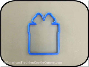"4"" Present 3D Printed Plastic Cookie Cutter-americantraditioncookiecutters"