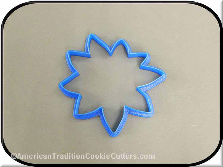 "4"" Poinsettia 3D Printed Plastic Cookie Cutter-americantraditioncookiecutters"
