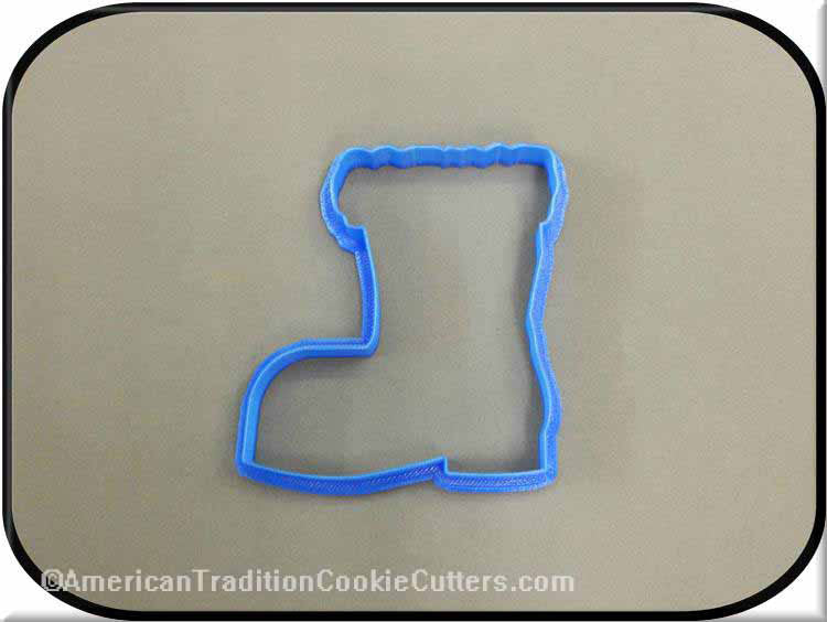 "4.5"" Santa Boot 3D Printed Plastic Cookie Cutter-americantraditioncookiecutters"