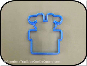 "4.5"" Santa Feet in Chimney 3D Printed Plastic Cookie Cutter-americantraditioncookiecutters"