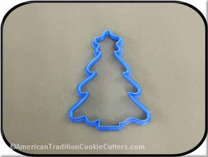 "4 ""Tree with Star 3D Plastic Printed Cookie Cutter-americantraditioncookiecutters"