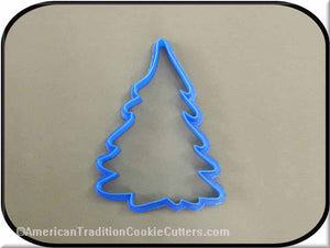 "5"" Christmas Tree 3D Printed Plastic Cookie Cutter-americantraditioncookiecutters"