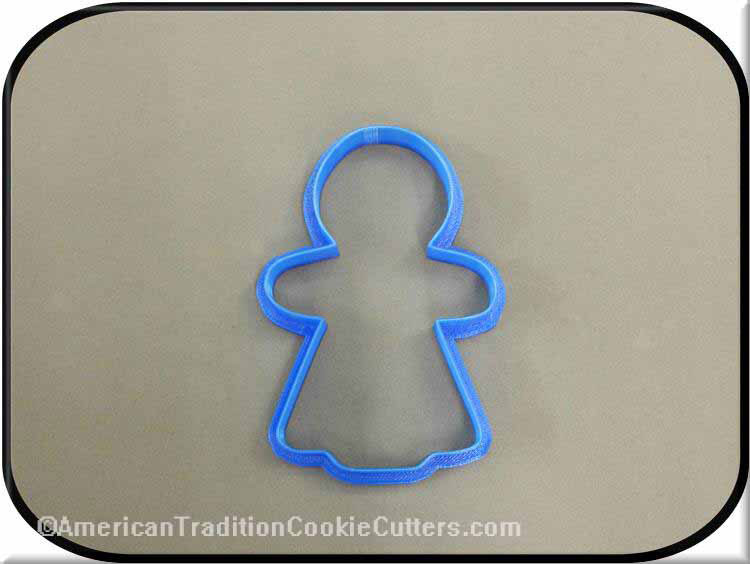 "4"" Gingerbread Girl 3D Printed Plastic Cookie Cutter-americantraditioncookiecutters"