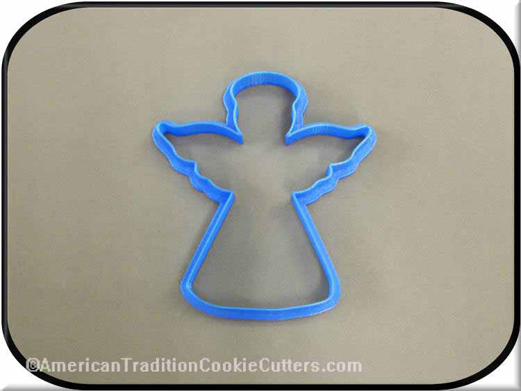 "4"" Angel 3D Printed Plastic Cookie Cutter - American Tradition Cookie Cutters"