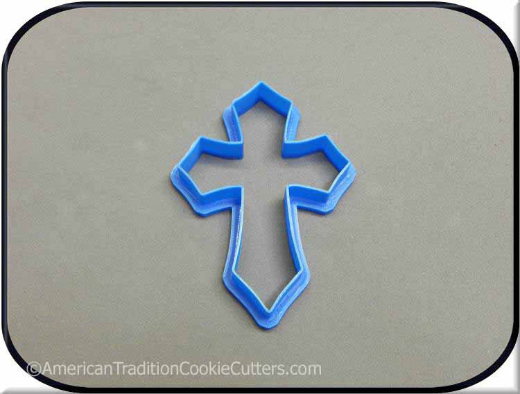 "4"" Cross 3D Printed Plastic Cookie Cutter"