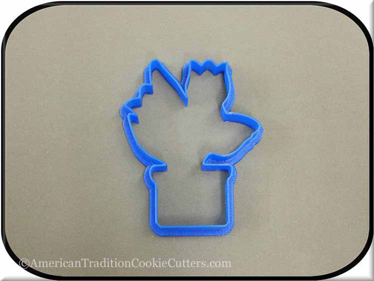 "4"" Tulip in Pot 3D Printed Plastic Cookie Cutter-americantraditioncookiecutters"