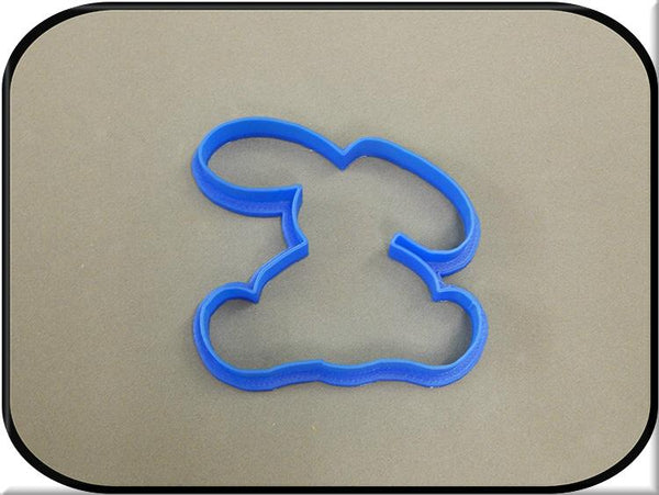 4.25 Bunny Rabbit 3D Printed Plastic Cookie Cutter-americantraditioncookiecutters
