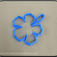 "4.25"" Flower 3D Printed Plastic Cookie Cutter-americantraditioncookiecutters"