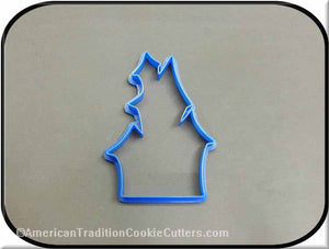 "4.5"" Haunted House 3D Printed Plastic Cookie Cutter-americantraditioncookiecutters"