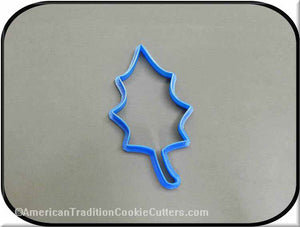 "5"" Holly Leaf 3D Printed Plastic Cookie Cutter-americantraditioncookiecutters"