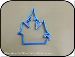 "5"" Haunted House 3D Printed Plastic Cookie Cutter-americantraditioncookiecutters"