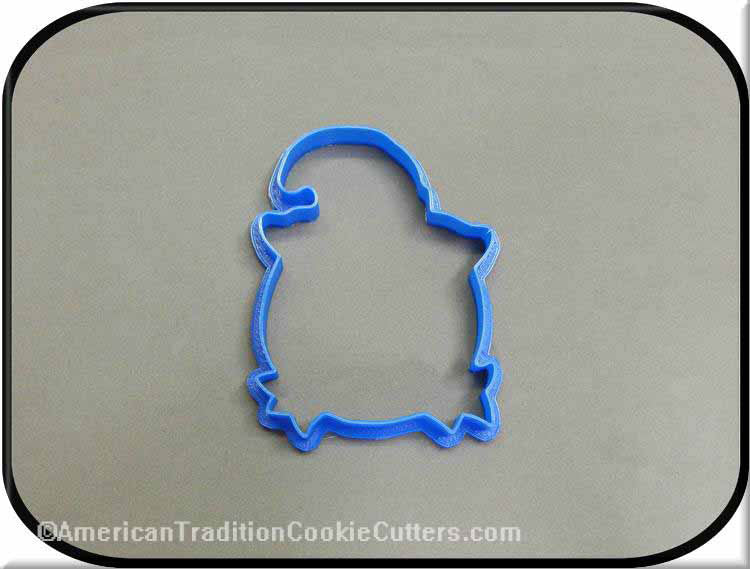 "4.5"" Pumpkin in Hat 3D Printed Plastic Cookie Cutter-americantraditioncookiecutters"