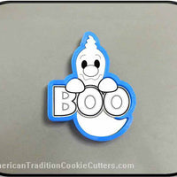 "4.5"" Ghost with Boo Sign 3D Printed Plastic Cookie Cutter"