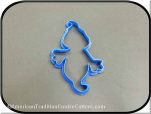 "4.5"" Ghost 3D Printed Plastic Cookie Cutter-americantraditioncookiecutters"
