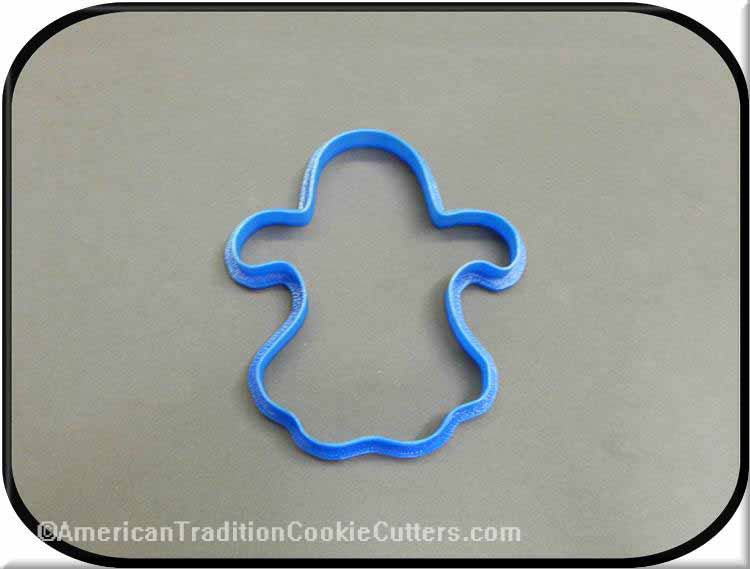 "4"" Ghost 3D Printed Plastic Cookie Cutter"