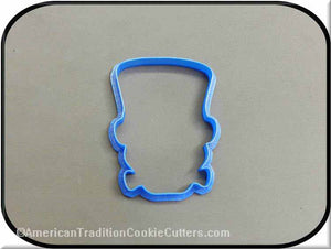 "4"" Frankenstein 3D Printed Plastic Cookie Cutter-americantraditioncookiecutters"