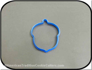 "3.5"" Acorn 3D Printed Plastic Cookie Cutter - American Tradition Cookie Cutters"