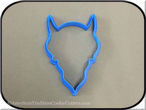 "5"" Devil 3D Printed Plastic Cookie Cutter-americantraditioncookiecutters"