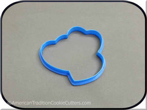"3.75"" Hearts (3 together) 3D Printed Plastic Cookie Cutter - American Tradition Cookie Cutters"