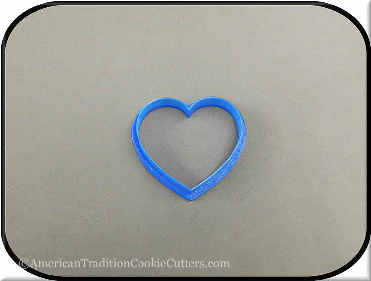 "2.5"" Heart 3D Printed Plastic Cookie Cutter-americantraditioncookiecutters"