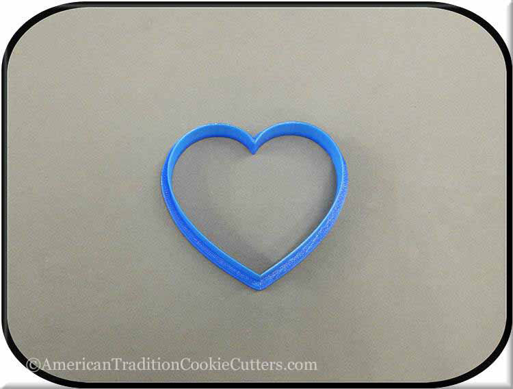 "3"" Heart 3D Printed Plastic Cookie Cutter"