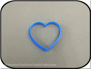 "3"" Heart 3D Printed Plastic Cookie Cutter - American Tradition Cookie Cutters"