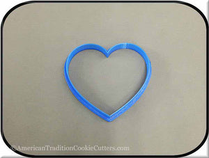 "3.5"" Heart 3D Printed Plastic Cookie Cutter - American Tradition Cookie Cutters"