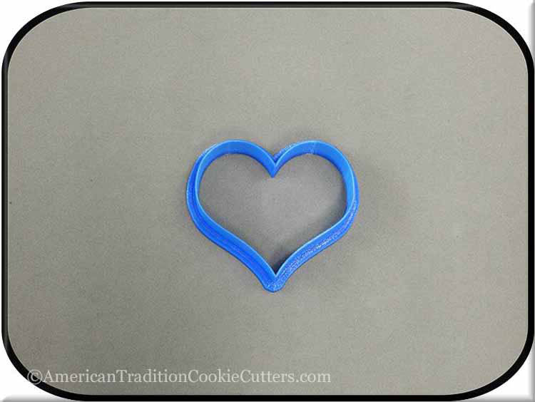 "2.5"" Heart 3D Printed Plastic Cookie Cutter - American Tradition Cookie Cutters"