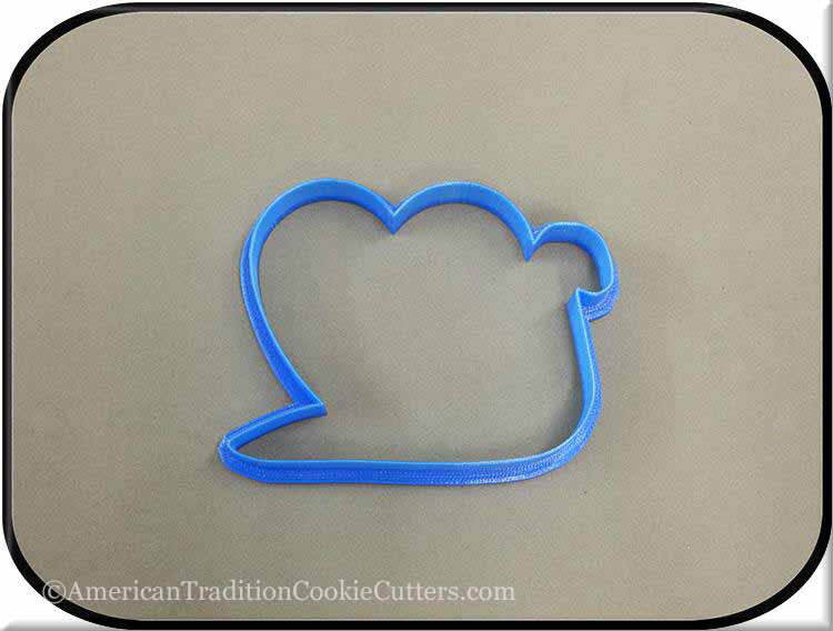 "4.5"" Snail with Heart 3D Printed Plastic Cookie Cutter-americantraditioncookiecutters"