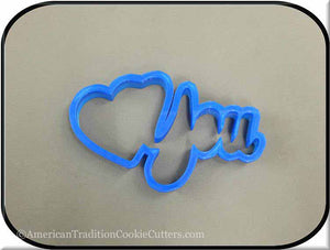 "5"" Heart You Word 3D Printed Plastic Cookie Cutter-americantraditioncookiecutters"