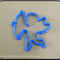 "4.5"" Cupid 3D Printed Plastic Cookie Cutter-americantraditioncookiecutters"