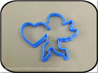 "4.75"" Cupid 3D Printed Plastic Cookie Cutter-americantraditioncookiecutters"