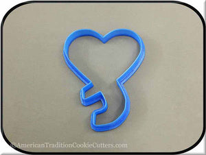 "4"" Heart with Ribbon 3D Printed Plastic Cookie Cutter-americantraditioncookiecutters"