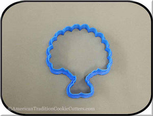 "4"" Turkey in Shoes 3D Printed Plastic Cookie Cutter-americantraditioncookiecutters"