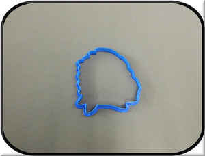 "4.25"" Indian Chief 3D Printed Plastic Cookie Cutter"
