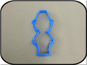 "4.5"" Pilgrim Boy 3D Printed Plastic Cookie Cutter-americantraditioncookiecutters"