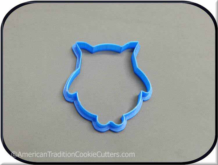 "3.75"" Owl Woodland Creature 3D Printed Plastic Cookie Cutter"