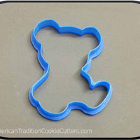 "4.5"" Teddy Bear 3D Printed Plastic Cookie Cutter-americantraditioncookiecutters"