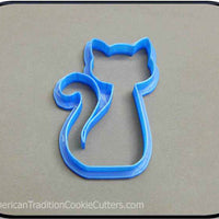 "4"" Cat 3D Printed Plastic Cookie Cutter - American Tradition Cookie Cutters"