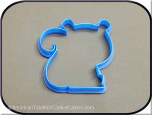 "4.25"" Squirrel Woodland Creature 3D Printed Plastic Cookie Cutter-americantraditioncookiecutters"