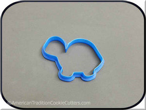 "3.5"" Turtle 3D Printed Plastic Cookie Cutter"