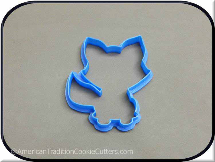 "4"" Fox Woodland Creature 3D Printed Plastic Cookie Cutter"