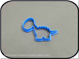"3.5"" Dinosaur 3D Printed Plastic Cookie Cutter - American Tradition Cookie Cutters"