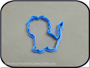 "4"" Lion 3D Printed Plastic Cookie Cutter"