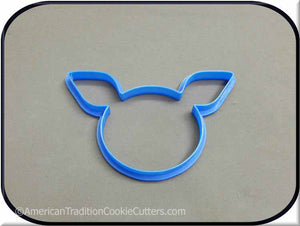 "5"" Pig Face 3D Printed Plastic Cookie Cutter-americantraditioncookiecutters"