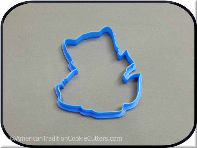"4.25"" Kitten with Basket 3D Printed Plastic Cookie Cutter"
