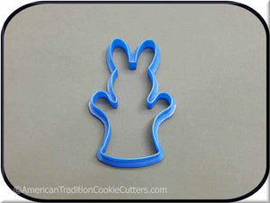 "4"" Bunny Puppet 3D Printed Plastic Cookie Cutter - American Tradition Cookie Cutters"