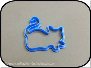"4"" Cat 3D Printed Plastic Cookie Cutter"